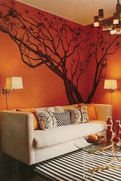 INTERIOR DESIGNING WALL COLORS AND PAINTINGS